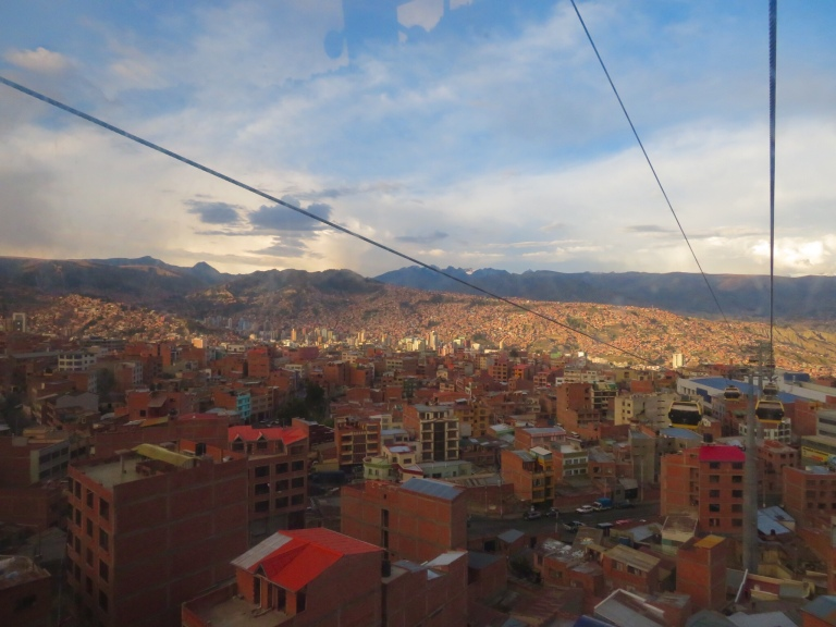 La Paz from above, Bolivia